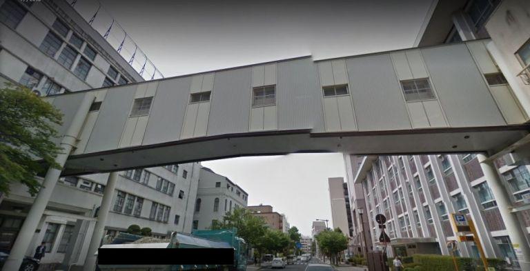 岩手医科大学の渡り廊下