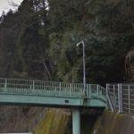 山奥の歩道橋