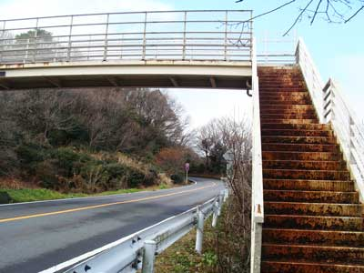 日本平パークウェイの歩道橋