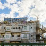 首都高港北ジャンクション近くの廃墟のラブホテル